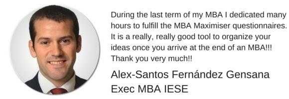 Career Farm MBA Maximiser Testimonial - Alex Santos Fernandez Gensana MBA IESE