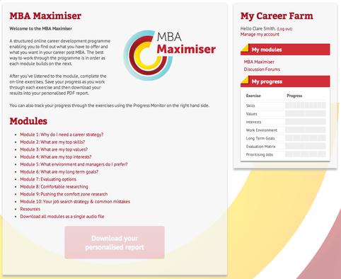 Career Farm MBA Maximiser Programme