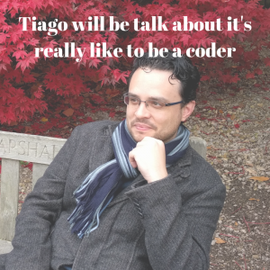 Tiago works in business intelligence software